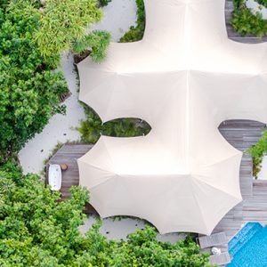 Luxury Maldives Holidays Fairmont Maldives Sirru Fen Fushi Tented Jungle Villa 2