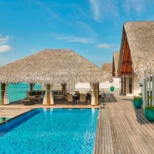 Luxury Maldives Holidays Fairmont Maldives Sirru Fen Fushi Three Bedroom Water Sunset Villa 4