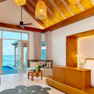 Luxury Maldives Holidays Fairmont Maldives Sirru Fen Fushi Two Bedroom Water Sunrise Villa 3