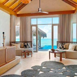 Luxury Maldives Holidays Fairmont Maldives Sirru Fen Fushi Two Bedroom Water Sunset Villa 3