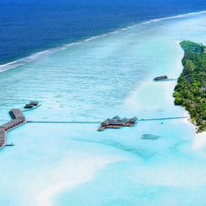 LUX Maldives aerial shot