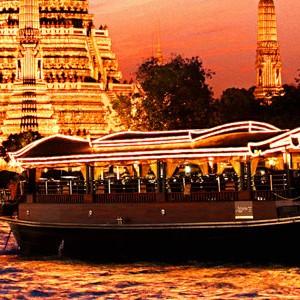 Banyan Tree Bangkok Aspara boat restaurant