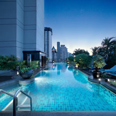 Banyan Tree Bangkok roof top pool