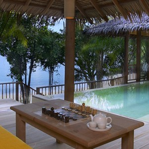 six senses yao noi beachfront pool villa deck