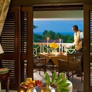 Al Fresco On The Balcony Butler Village Honeymoon Oceanview One Bedroom Poolside Villa Suite Sandals Ochio Rios Jamaica