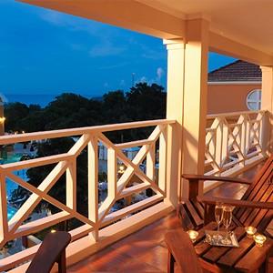 Balcony - Great House One Bedroom Butler Suite - Sandals Ochio Rios Jamaica