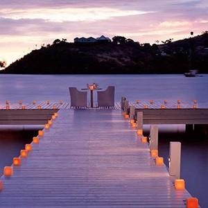 Carlisle Bay Antigua - Antigua Luxury Holidays - dine at dusk
