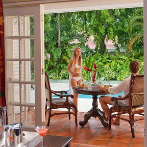 Dine Al Fresco By Pool Butler Village One Bedroom Poolside Villa Estate Suite Sandals Ocio Rios