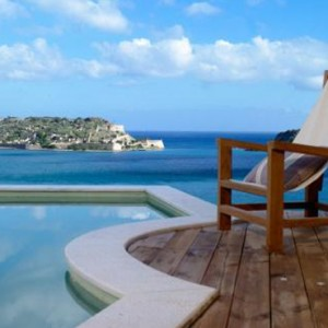 Family Suite Pool 6 - domes of elounda - luxury greece holiday packages