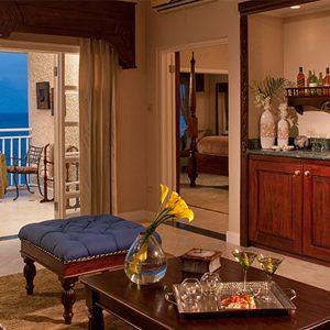 LIVING ROOM Sandals Ochio Rios Jamaica Riviera Honeymoon Beachfront One Bedroom Butler Suite