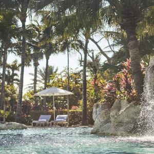 Luxury Bahamas Holiday Packages The Ocean Club, A Four Seasons Resort Waterfall In Pool