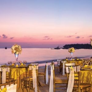 Luxury Dominican Republic Holiday Packages Dreams Palm Beach Punta Cana Beach Wedding Reception At Sunset