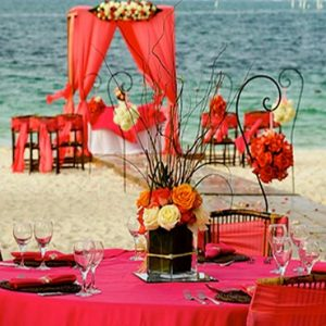 Luxury Dominican Republic Holiday Packages Dreams Palm Beach Punta Cana Beach Wedding Reception1