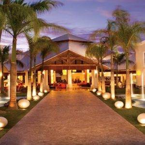 Luxury Dominican Republic Holiday Packages Dreams Palm Beach Punta Cana Lobby At Night