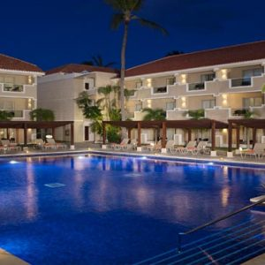 Luxury Dominican Republic Holiday Packages Dreams Palm Beach Punta Cana Pool At Night