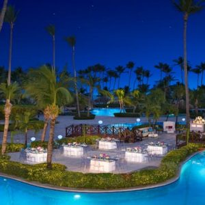 Luxury Dominican Republic Holiday Packages Dreams Palm Beach Punta Cana Wedding Dinner Pool Setup