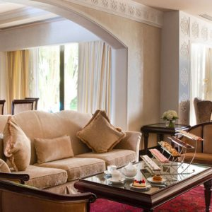 Luxury Dubai Holiday Packages Jumeirah Zabeel Saray Four Bedroom Lagoon Royal Residences Living Room