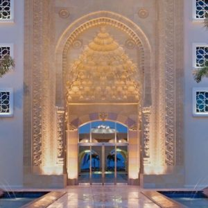 Luxury Dubai Holiday Packages Jumeirah Zabeel Saray Hotel Entrance