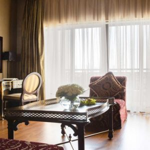 Luxury Dubai Holiday Packages Jumeirah Zabeel Saray Two Bedroom Suite Living Room