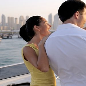 Luxury Dubai Holiday Packages One&Only The Palm Honeymoon Couple On Yacht