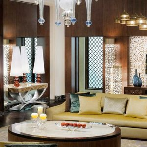 Luxury Dubai Holiday Packages One&Only The Palm Manor 'Grand Palm' Suite Living Area