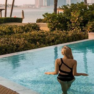 Luxury Dubai Holiday Packages One&Only The Palm Palm Beach Executive Suite With Pool Women In Pool