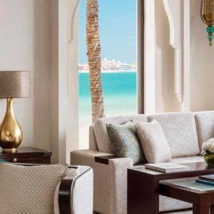 Luxury Dubai Holiday Packages One&Only The Palm Palm Beach Junior Suite Bedroom