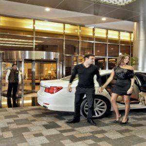 Luxury Dubai Holidays Amwaj Rotana Hotel Entrance And Car Transfer