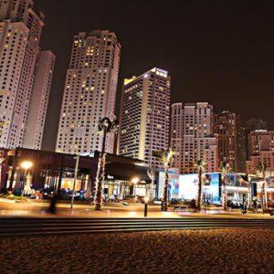 Luxury Dubai Holidays Amwaj Rotana Hotel Exterior At Night1