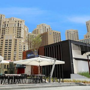 Luxury Dubai Holidays Amwaj Rotana Hotel Exterior Restaurants Area