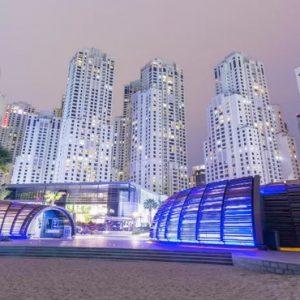 Luxury Dubai Holidays Amwaj Rotana Beach Area At Night