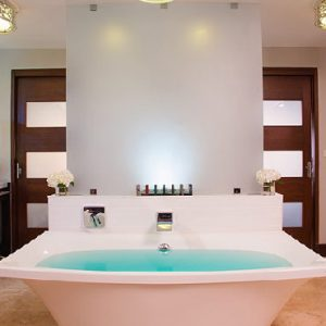 Luxury Grenada Holiday Packages Sandals Grenada South Seas Waterfall River Pool Walkout Junior Suite With Patio Tranquility Soaking Tub1