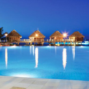 Luxury Holidays Bora Bora - Pearl Beach Resort - Night Setting