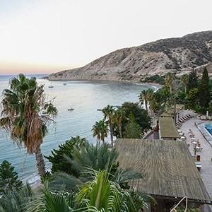 Luxury Holidays Cyprus - Columbia Beach Hotel Pissouri - beach panorama