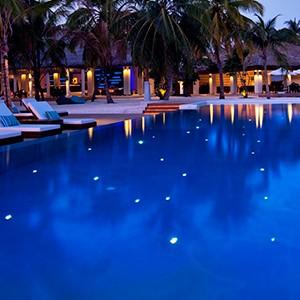 Luxury - Holidays - Maldives - Valassaru - Pool Night