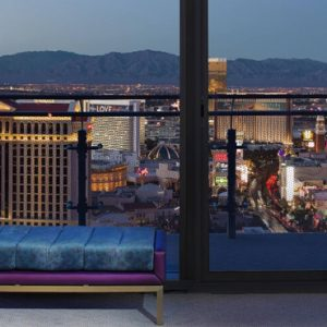 Luxury Las Vegas Holiday Packages Cosmopolitan Las Vegas Wrap Around Terrace Fountain View 3