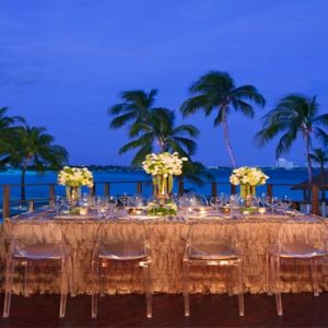 Luxury Mexico Holiday Packages Dreams Sands Cancun Resort And Spa Beach Wedding Dinner Reception At Night