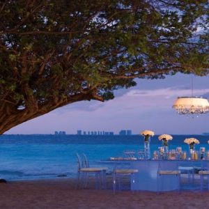 Luxury Mexico Holiday Packages Dreams Sands Cancun Resort And Spa Beach Wedding Dinner Reception Under The Tree
