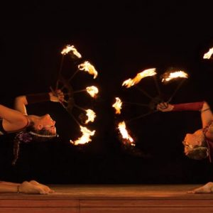 Luxury Mexico Holiday Packages Dreams Sands Cancun Resort And Spa Fire Show