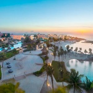 Luxury Mexico Holiday Packages Hard Rock Hotel Riviera Maya Hotel Exterior At Sunset
