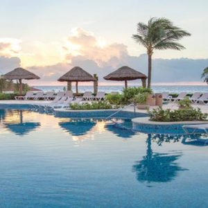 Luxury Mexico Holiday Packages Hard Rock Hotel Riviera Maya Sunrise Over The Pool