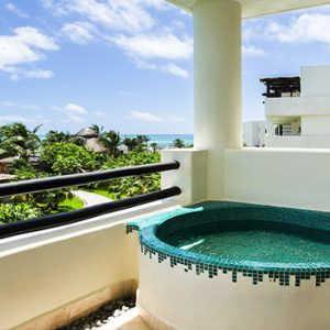 Luxury Mexico Holiday Packages Secrets Maroma Beach Riviera Cancun Preferred Club Junior Suite Ocean View Exterior Soaking Tub
