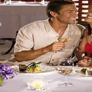 Luxury Mexico Holiday Packages Secrets Maroma Beach Riviera Cancun Portofino Couple Dining