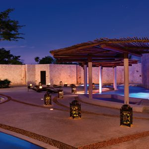 Luxury Mexico Holiday Packages Secrets Maroma Beach Riviera Cancun Spa Pool At Night
