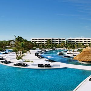 Luxury Mexico Holiday Packages Secrets Maroma Beach Riviera Cancun Aerial View Of Pool