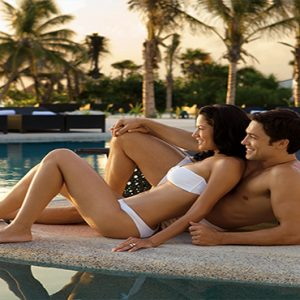 Luxury Mexico Holiday Packages Secrets Maroma Beach Riviera Cancun Couple By Pool