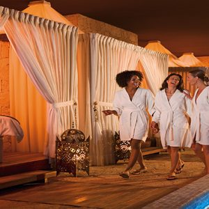 Luxury Mexico Holiday Packages Secrets Maroma Beach Riviera Cancun Guests At The Spa Pool