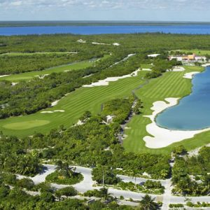 Luxury Mexico Holiday Packages Secrets Playa Mujeres Golf Aerial