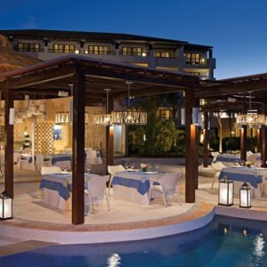Luxury Mexico Holiday Packages Secrets Playa Mujeres Restaurant At Night1