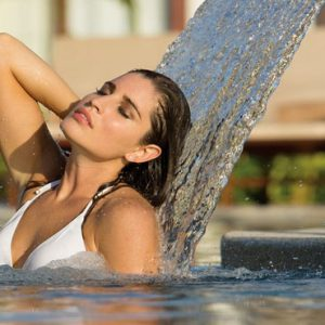 Luxury Mexico Holiday Packages Secrets Playa Mujeres Woman In Spa Jacuzzi